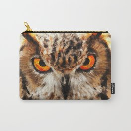 owl look digital painting orcstd Carry-All Pouch