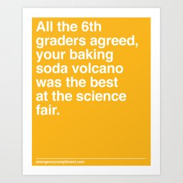 Best at the Science Fair Art Print