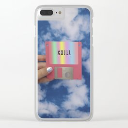 chill floppy disk Clear iPhone Case