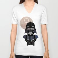 starwars V-neck T-shirts featuring StarWars Darth Vader by Joshua A. Biron