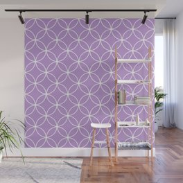 Crossing Circles - Periwinkle Purple Wall Mural