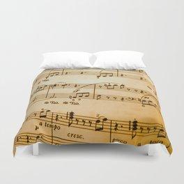 Music Sheet Duvet Cover
