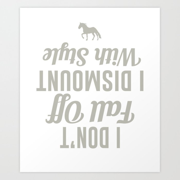 b82fbbc731 Funny Horse T-Shirt For Daughter/Son. Art Print by ip-society6-dan16 ...