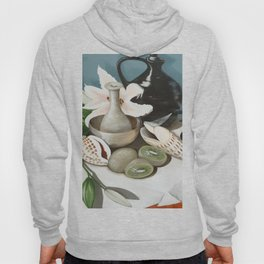 Kiwi fruit & Lillies Hoody