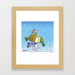 Chrsitmas Snoopy cold weather Xmas Framed Art Print