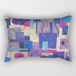 Purple Doodle Rectangular Pillow
