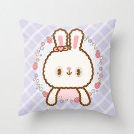 Sweet ウサギ Throw Pillow