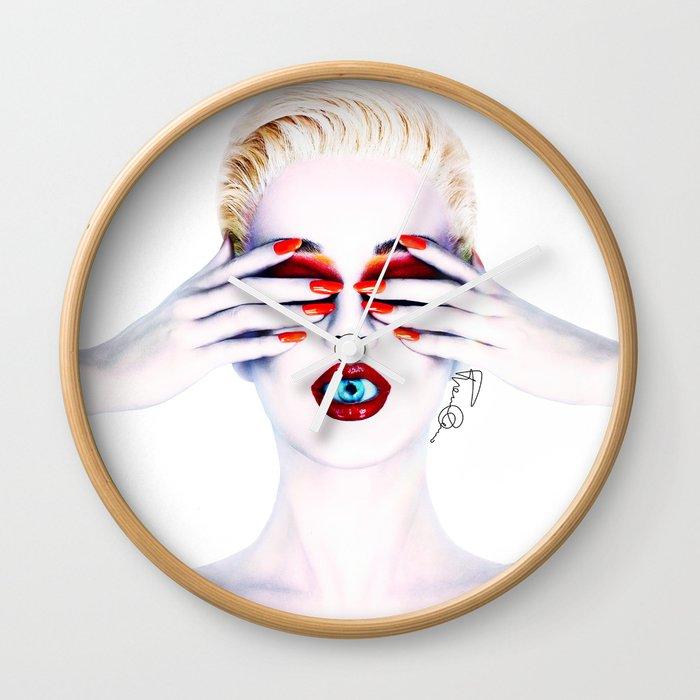Katy Witness Perry Wall Clock by franziskooo | Society6