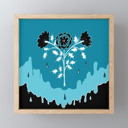 Winter Flowers Framed Mini Art Print