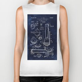 Ice Cream Scoop Blueprint Biker Tank