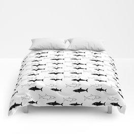 B/W Shark Comforters