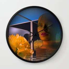 surrealistic showcase Wall Clock