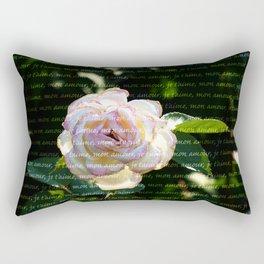 Je T'aime en Rose Rectangular Pillow