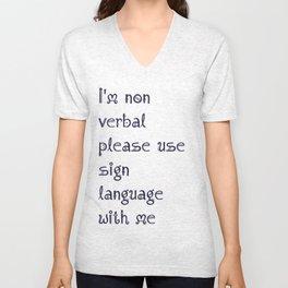 Nonverbal communication Unisex V-Neck