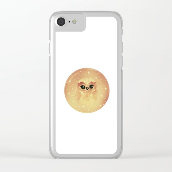 baby owl white Clear iPhone Case