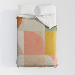 Shapes abstract pastel II Comforters