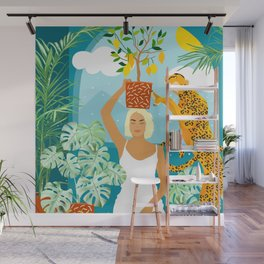 Bring the jungle home #illustration #painting Wall Mural