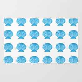 Blue Seashell Rug