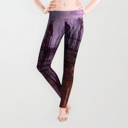 Purple / Violet Painting in Minimalist and Abstract Style Leggings