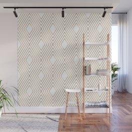 Elegant Geometric Gold Pattern Illustration Wall Mural
