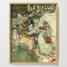 """""""Titania"""" by Arthur Rackham From Shakespeare Serving Tray"""