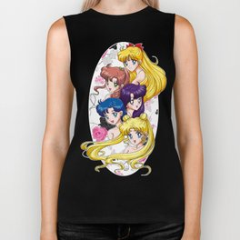 Sailor Senshi - Uncovered (Original Anime Color) Biker Tank