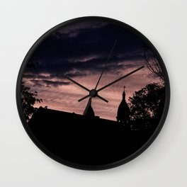 Stormy Night in Montreal Wall Clock