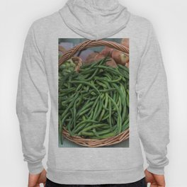 Basket of Fresh Green Beans Hoody