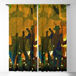 From Slavery thru Reconstruction photograph of the 135th St. WPA Public Mural NY Public Library  Blackout Curtain