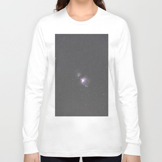 Orion Running Man flame and Horsehead Nebula's Long Sleeve T-shirt