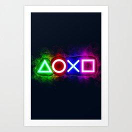 Playstation smoky  Art Print