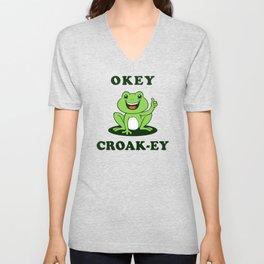 Okey Croak-ey Unisex V-Neck