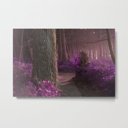 The Forest Whispers Magenta Metal Print