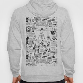Da Vinci's Anatomy Sketchbook Hoody