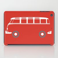 vw bus iPad Cases featuring VW Samba Bus - Flat by Art By Edo