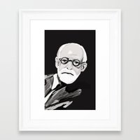 freud Framed Art Prints featuring Freud  by BJD124