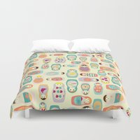 russia Duvet Covers featuring Russia by LaPenche
