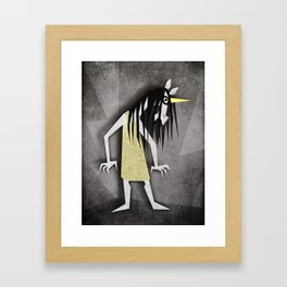 Grudge Unicorn Framed Art Print