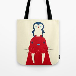Penguin & Walrus Tote Bag