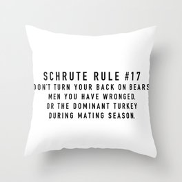 Rule 17 Throw Pillow