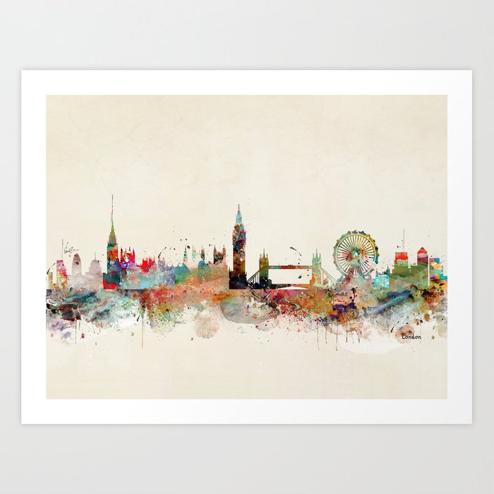 london england skyline Kunstdrucke