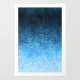 stained fantasy glow gradient Art Print