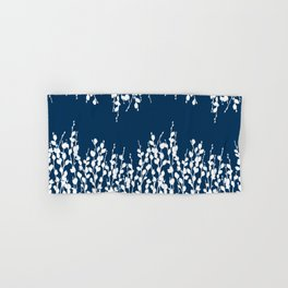 Pussywillow Silhouettes — Midnight Blue Hand & Bath Towel