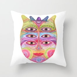 kindly expressed kind of kindness mask Throw Pillow