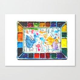 A Watercolorist Palette Canvas Print