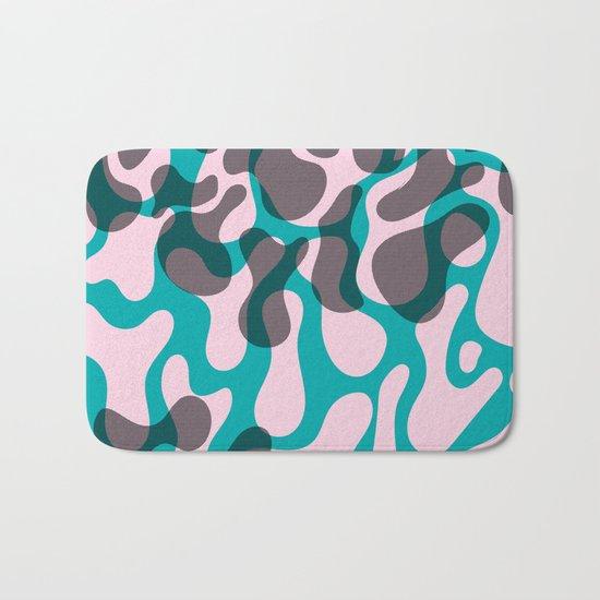 blue, pink, dots Bath Mat