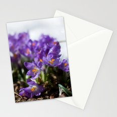 Crocuses in Snow Stationery Cards