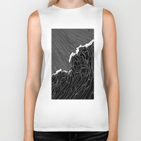 wave Biker Tanks featuring Wave by Tim Bywater