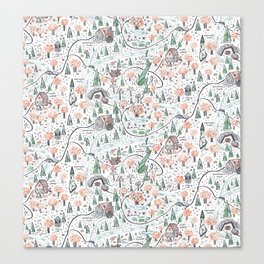 Enchanted Forest Map Canvas Print