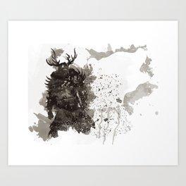 Be a Hero - Bear spirit Art Print